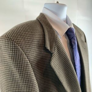 Jones New York Wool Houndstooth Coat Blazer 42 R